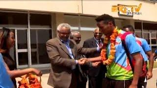 ERi-TV: Eritrean U-20 National Football Team Return Home to a Hero's Welcome